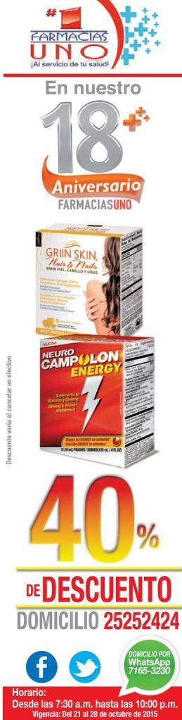 Descuento en vitaminas y rejuvenecedores GRIIN SKIN