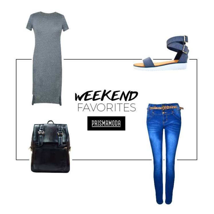 For her OUTFIT weekend blue and gray style fashion