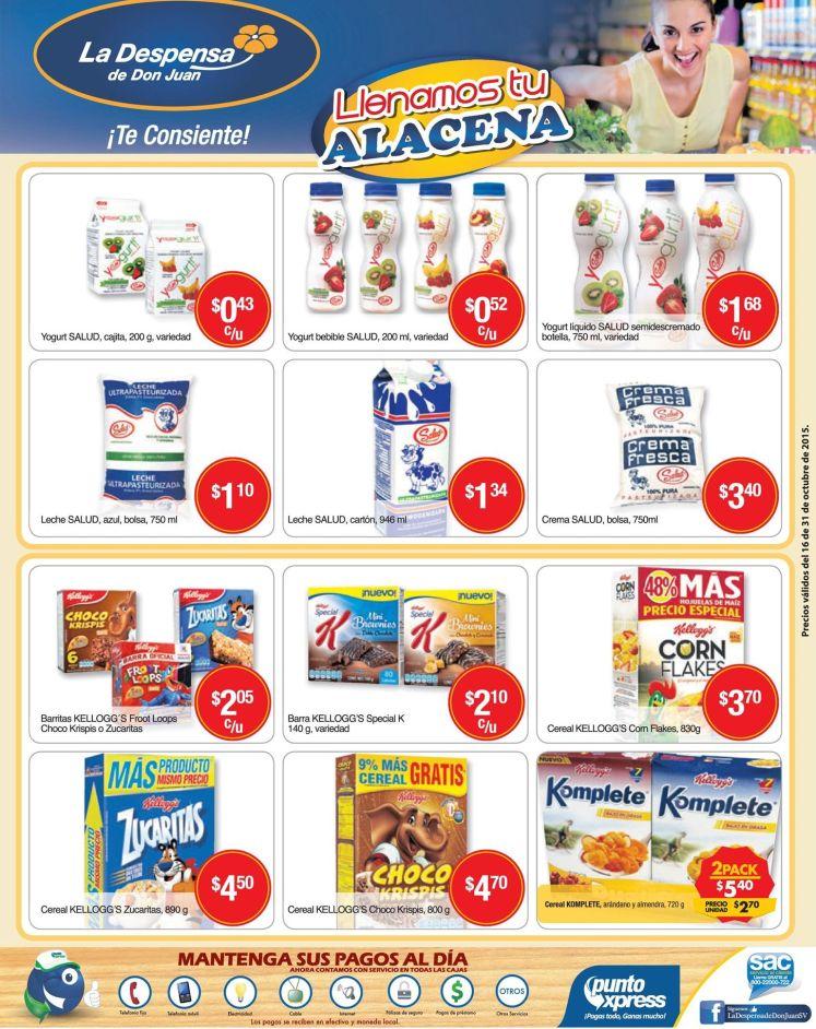 Lacteos en promocion para tu alacena via la despensa de don juan - 16oct15