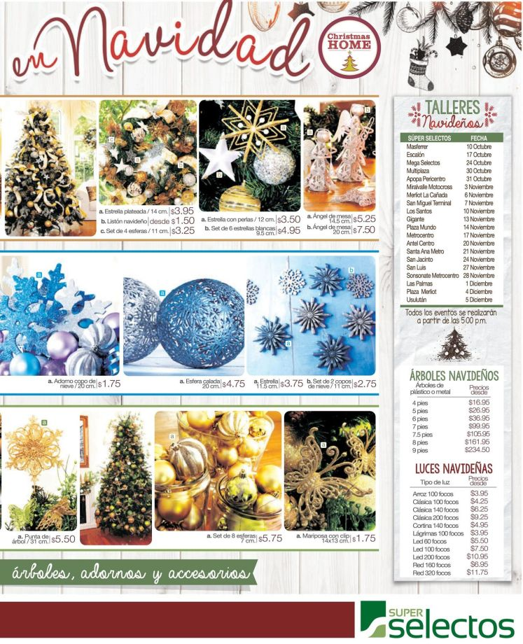 Learn to decorate to christmas via SUPER SELECTOS