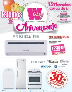 Linea blanca de agencias wAY con 30 off por aniversario -23oct15