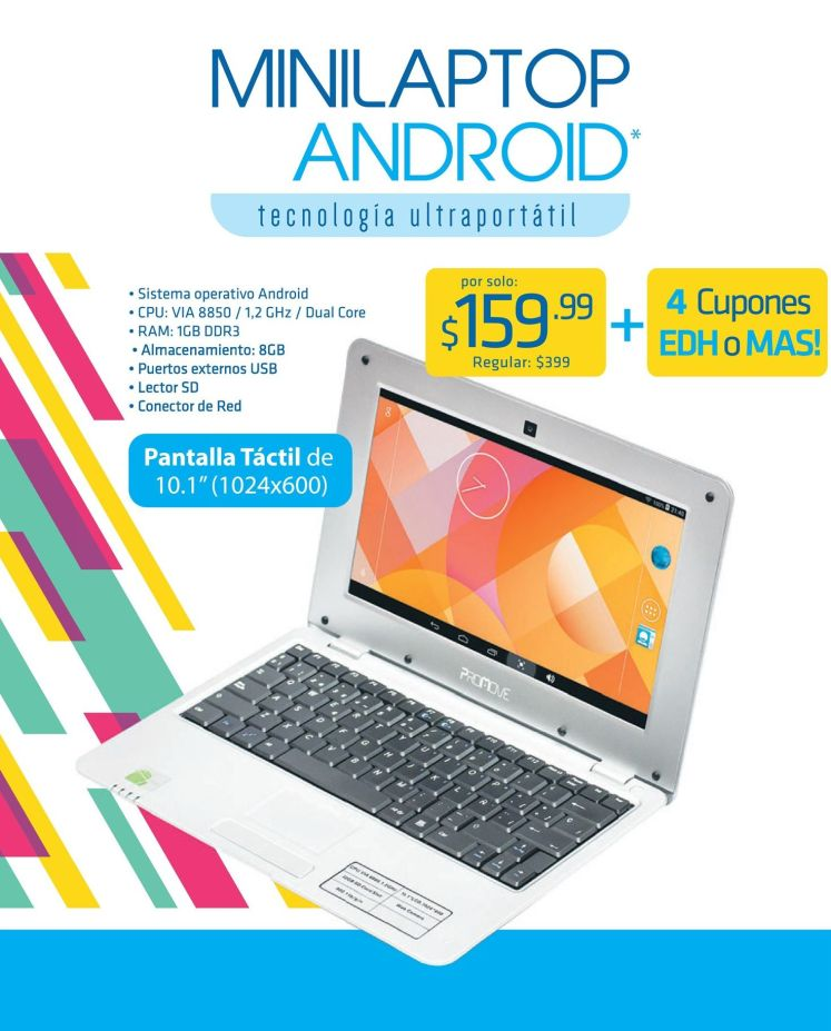 MINI LAPTOP android tecnologia ultra portatil