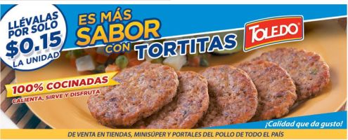 Mas sabor en tus comidas con TORTITAS de carne TOLEDO