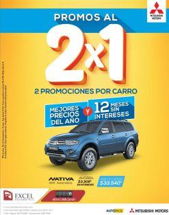 Mitsubishi NATIVA promociones al 2x1 visita excel automotriz