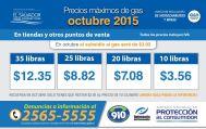 No olvides los precios maximos de gas en OCTUBRE 2015