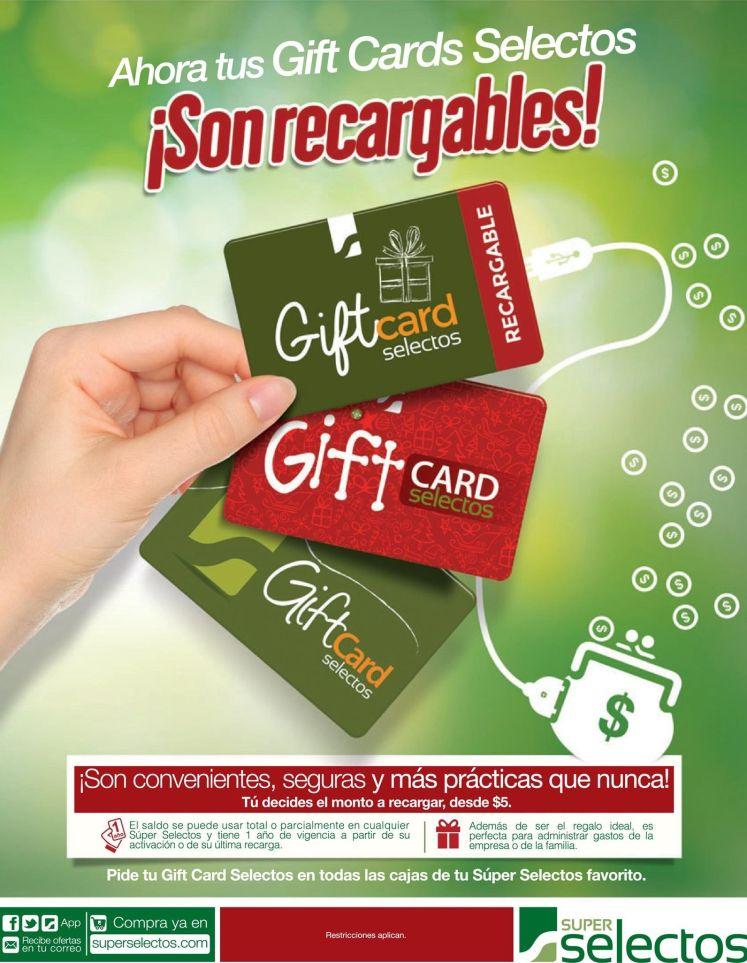 Ahora tus GIFT CARD selectos son recargables