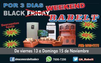 Almacenes RABEL tiene su BLACK WEEKEND 2015