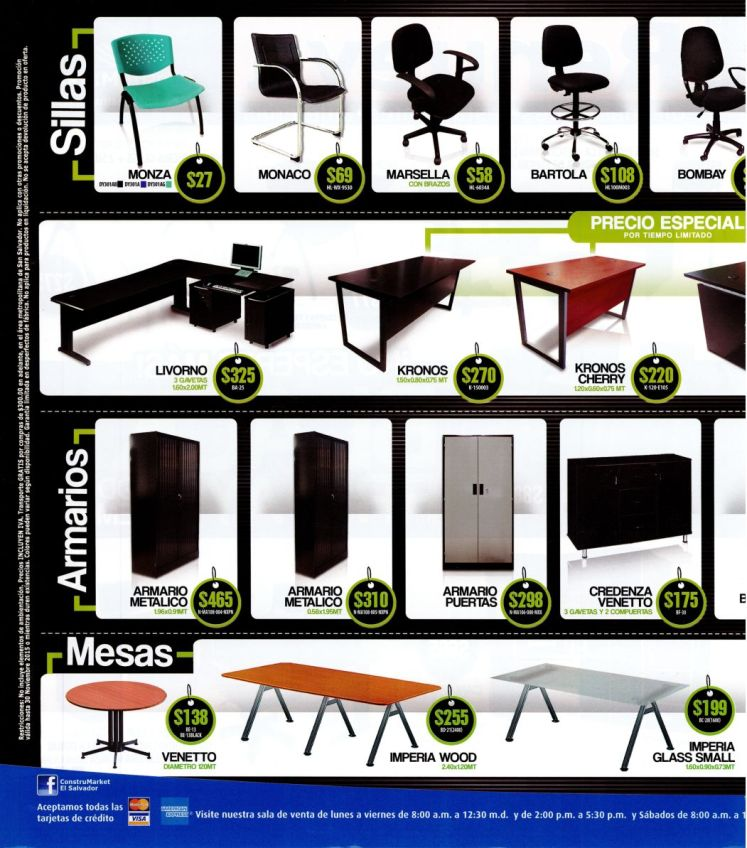 Black Friday 2015 promociones en muebles sillas escritorios mesas