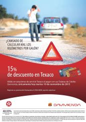 HOY martes 15 OFF de descuento en gasolina TEXACO