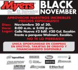 MYERS engine deals BLACK november