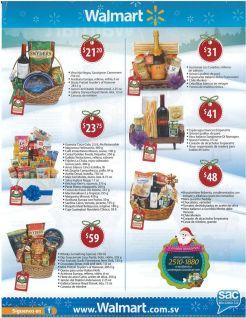 Pedidos de canasta navideñas 2015 en supermercado walmart el salvador