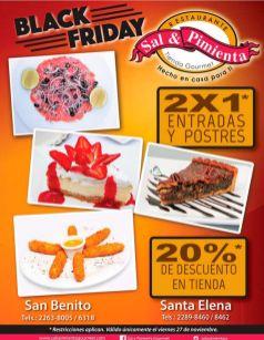 Restaurante sal y pimienta tienda gourmet MENU ofertas blackfriday_1
