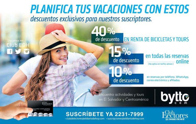 Subcriptors discounts PLANIFICA tus vacaciones fin de año 2015