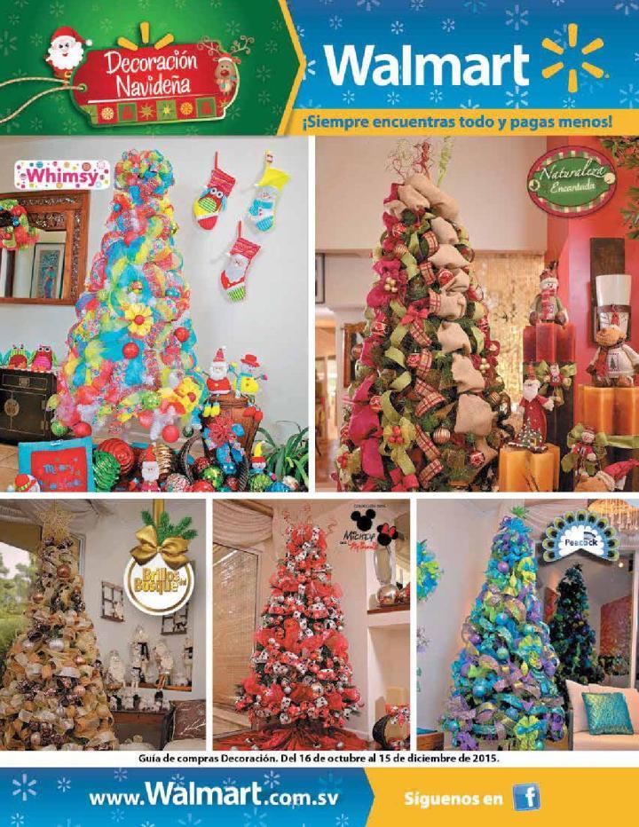WALMART el salvador Decoracion navideña 2015