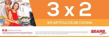 articulos de cocina promocion 3x1 sears