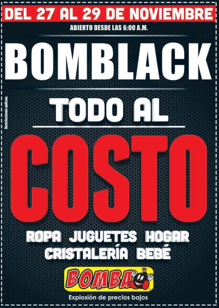 todo el finde semana mercaderia la costo en la BOMBA BLACK