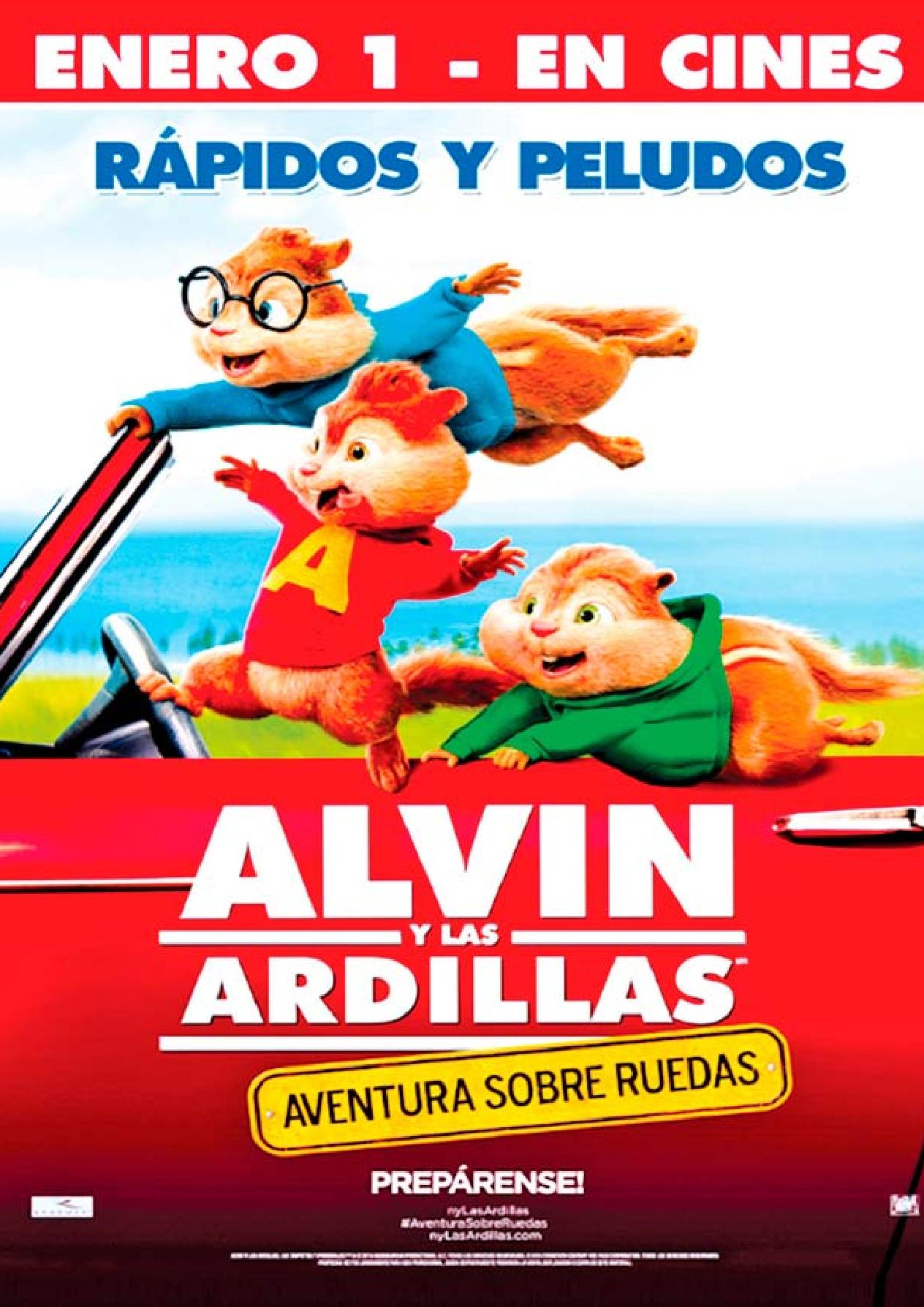 ALVIN y las ardillas rapidos y peludos THE MOVIE estreno