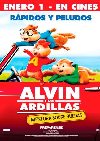 ALVIN y las ardillas rapidos y peludos THE MOVIE estreno