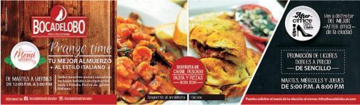 Boca de Lobo presenta Menu ejecutivo de comida italiana PRAZON TIME