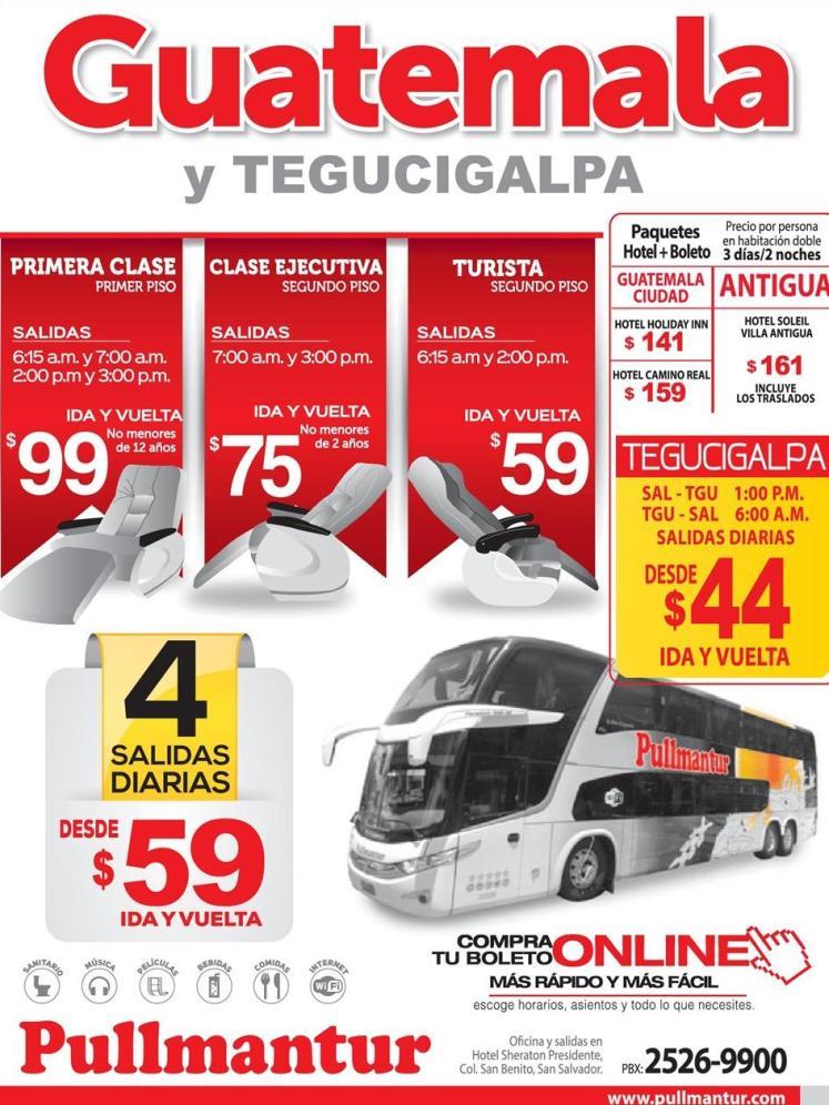 Boletos para viajar a guatemala en PULMANTU