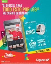 Combo DIGICEL de navidad smartphone and smartwatch 100 dolares