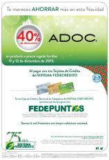Compras ADOC con 40 OFF gracias a FEDECREDITO