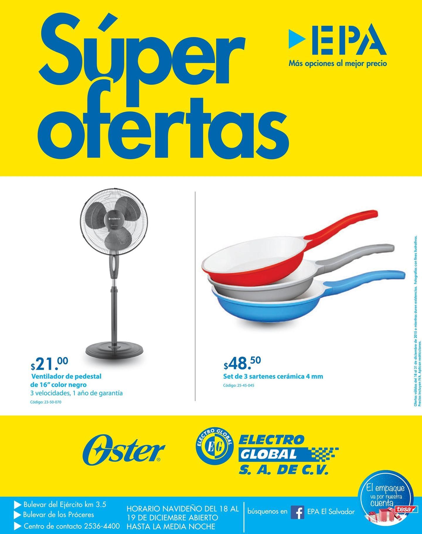 EPA super ofertas en OSTER electro products holiday deals