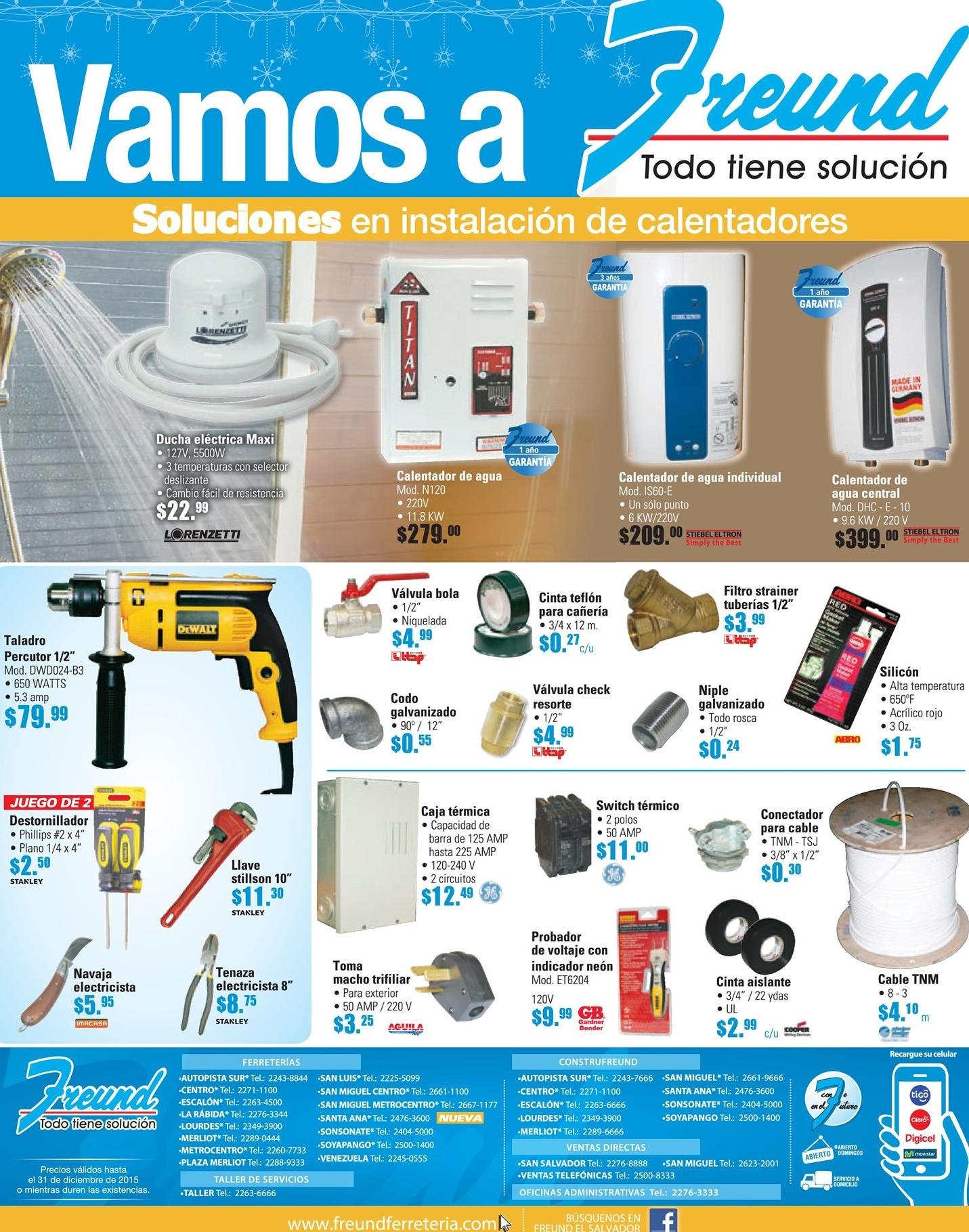FREUND productos y soluciones para instalcion de calentadores