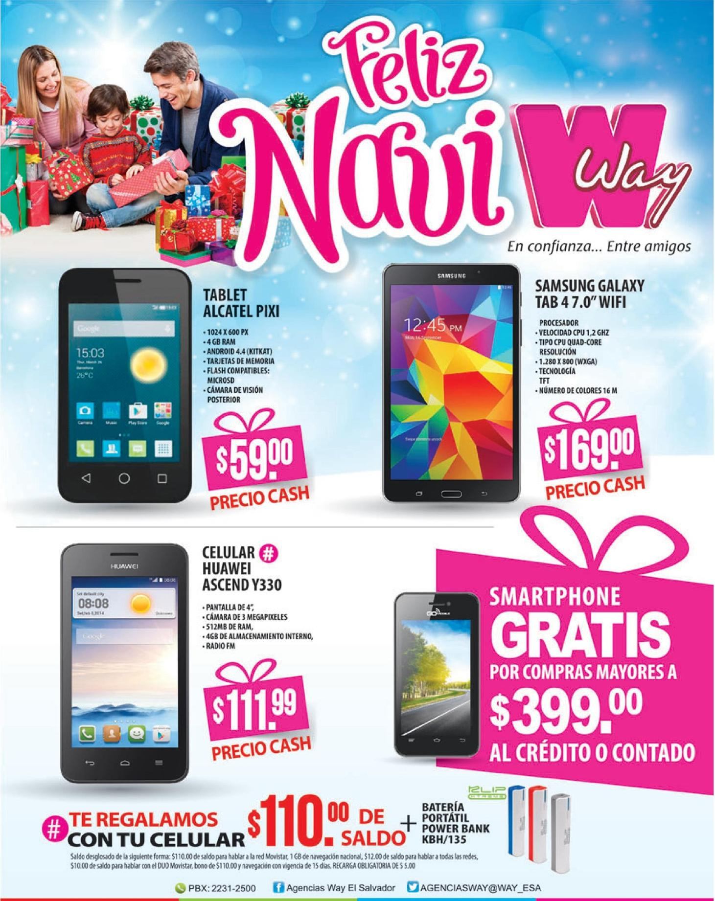 Grandes ofertas WAY al pagar cash en navidad 2015