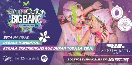 MOVISTAR color party for new year 2016