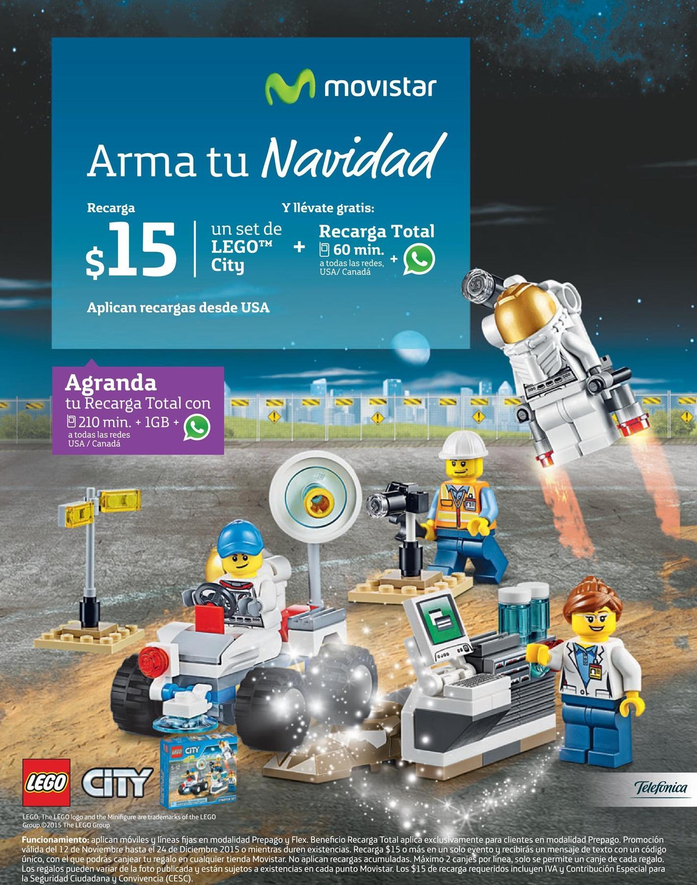 MOVISTAR holiday promotion LEGO CITY games