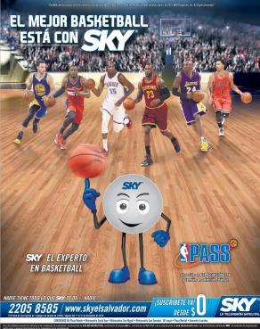NBA Pass 2016 sky satellital television