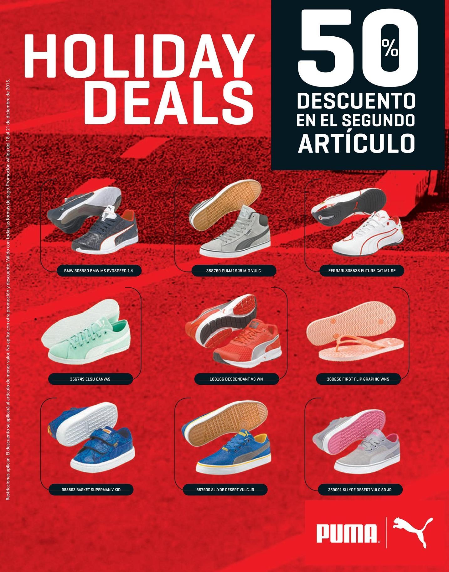 PUMA sport shoes 50 OFF holidays deals for christmas season