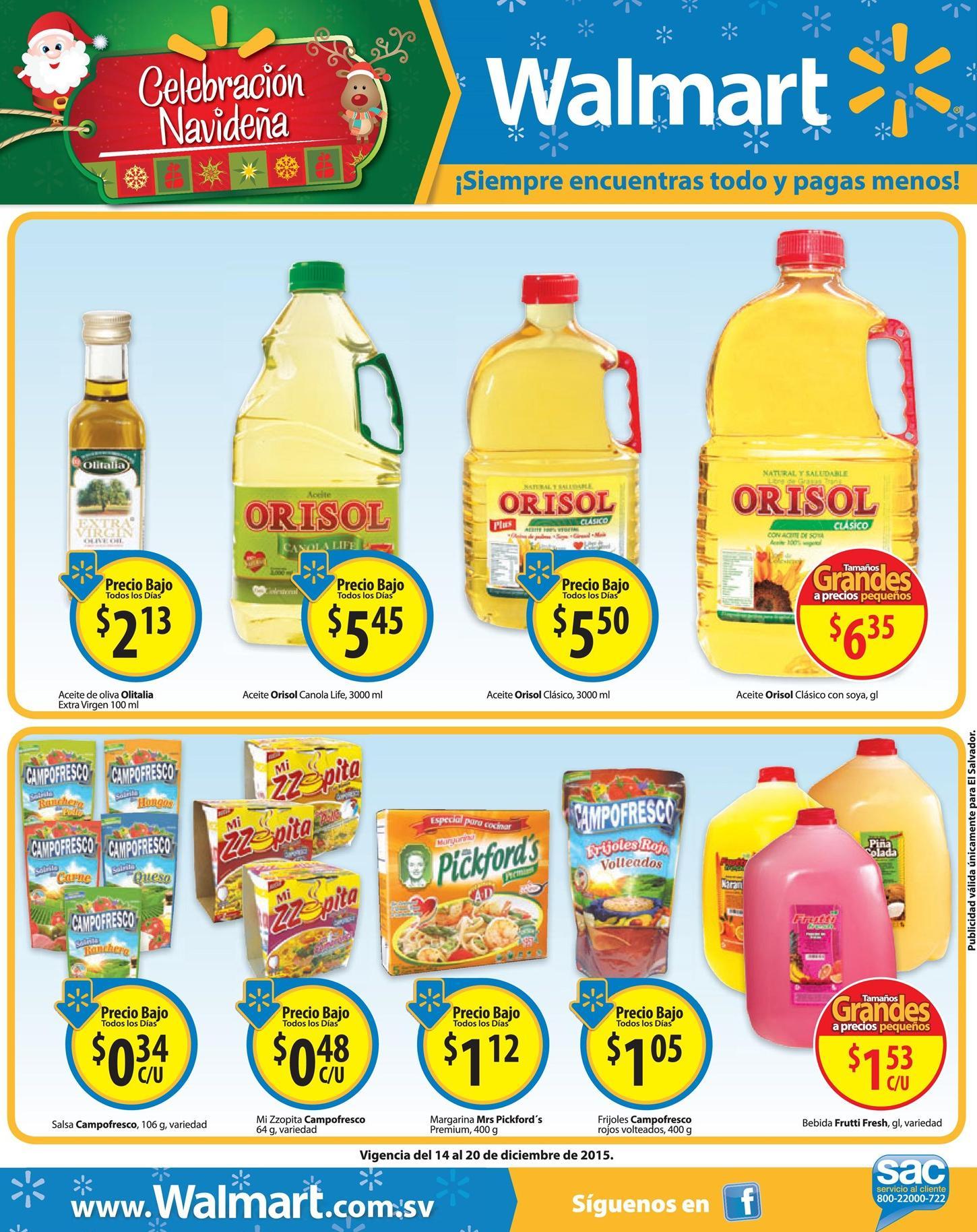 Precios bajos en tus compras WALMART navidad - 15dic15