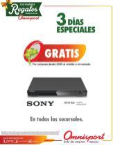 Promociones OMNISPORT gratis DVD Sony por tus compras
