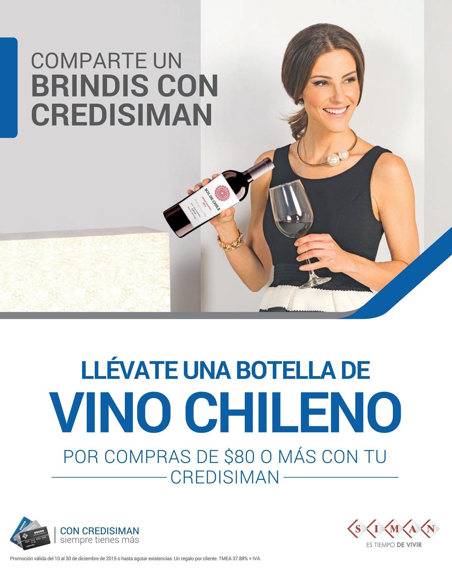 SIMAN compras te regala una botella de vino chileno
