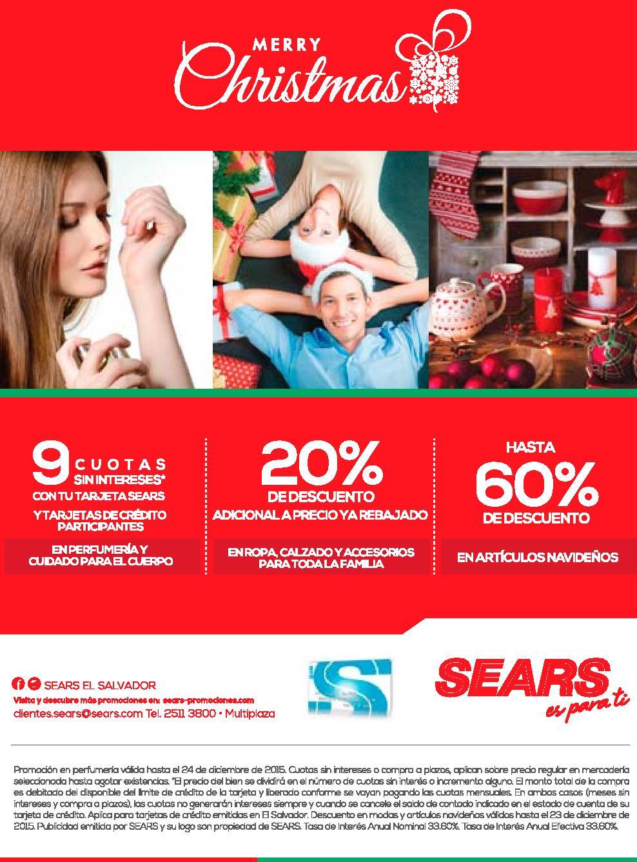 SeARS holidays season promotions 2015