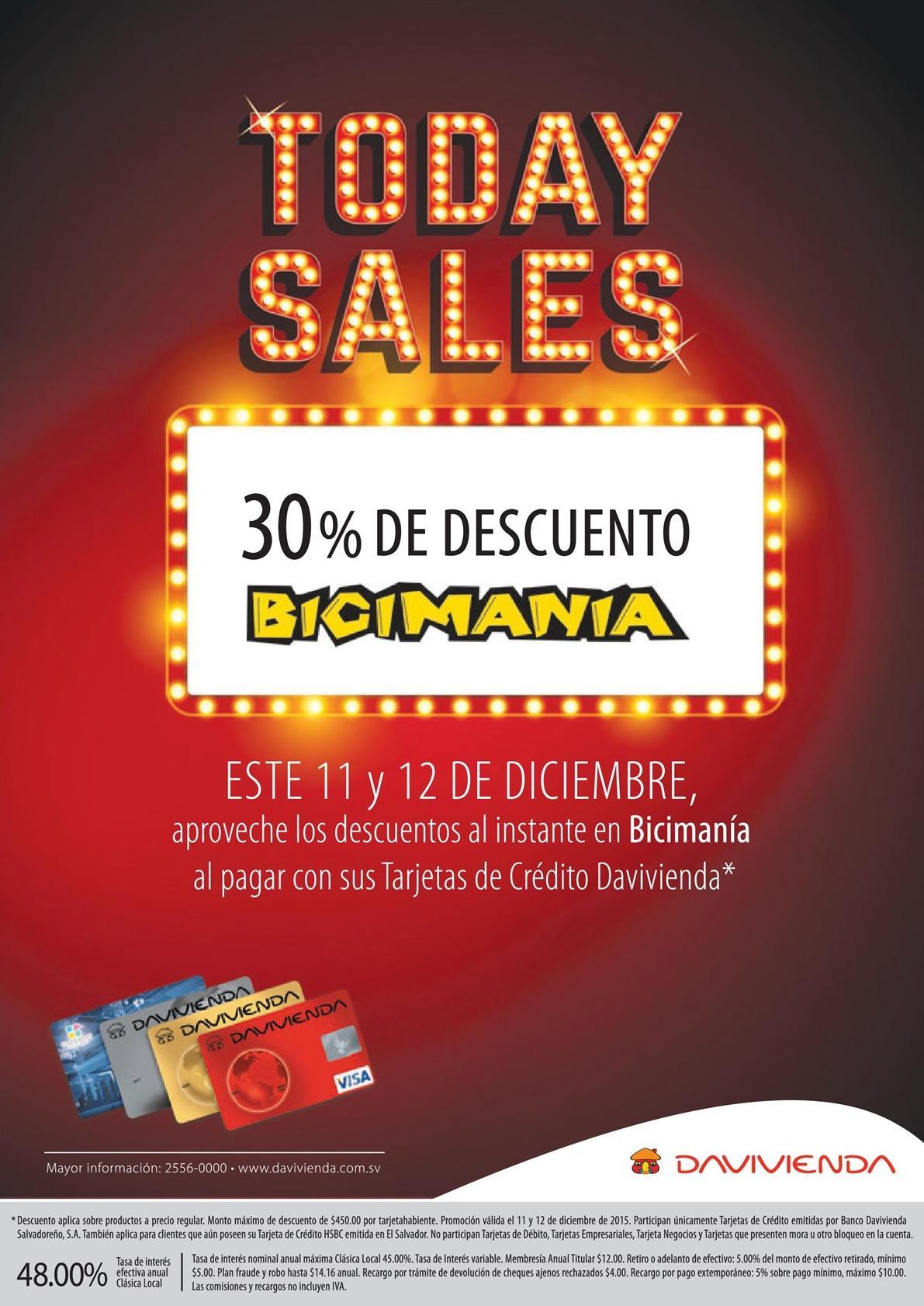 TODAY SAle discount DAVIVIENDA en BICICLETAS