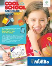 COOL SCHOOL en plaza mundo gana tablet por tus compras