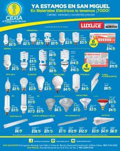 Luces LED y ahorradoras en SAN MIGUEL