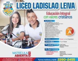 Matriculas en LICEO ladislao leiva el salvador