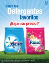 XEDEX y RINSO - Ahora enero 2016 tus detergentes favoritos BAJAN de PRECIOS