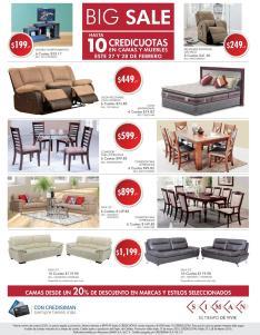 BIG sales de muebles salas comedores en SIMAN febrero 2016