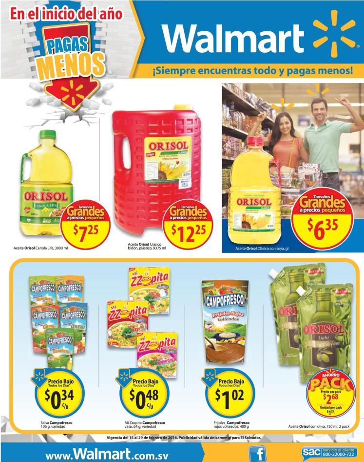 Compras de tus quincena en WALMART ofertas de supermercado - 15feb16