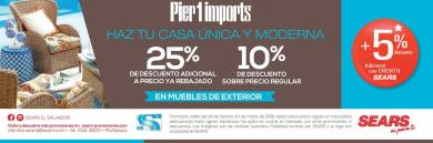 Decoracion y bricolaje PIER 2 imports en SEARS