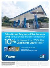 Descuentos 10 off en gasolineras UNO sv - 24feb16