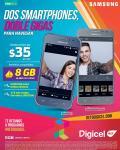 Dos smartphones digicel por 35 dolares al mes