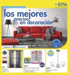 EPA folleto de ofertas en decoracion de interiores