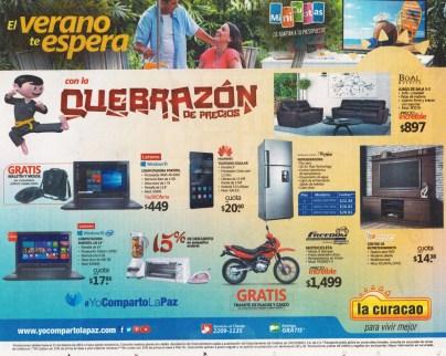Entrale a la quebrazon de precios de LA CURACAO para este verano 2016