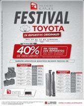 Festival de reppuestos originas para carros TOYOTA hasta 40 off - Febrero 2016